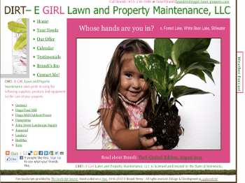 Dirt–e Girl Lawn &Property Maintenance WebSite