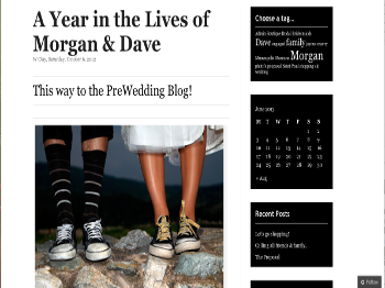 A Year in the Lives of Morgan & Dave WordPress WebSite